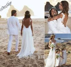 aliexpress com buy backless lace chiffon beach wedding dresses