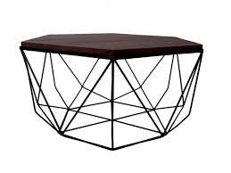 frame large coffee table buy online hexagon dark brown mango wood black metal frame large