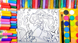 coloring ariel the little mermaid coloring pages for children to