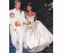 beckham wedding dress david and beckham celebrate 17th wedding anniversary look