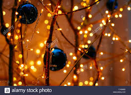 up of illuminated decorations at home stock photo 97706237