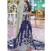 bridal dresses heavy embroidered chiffon bridal dress unstitched chi 80 online