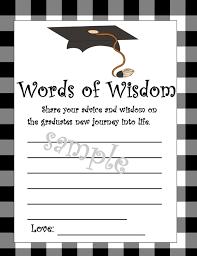 words of wisdom cards graduation words of wisdom cards diy printable