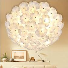 plafonnier pour chambre moderne mode romantique blanc fleurs en verre led plafonnier pour