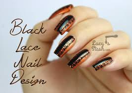 Nail Art Lace Design Halloween Style Black Lace Nail Art Design Lucy U0027s Stash