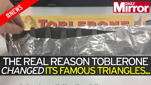 toblerone explains reason why it changed its distinctive triangle
