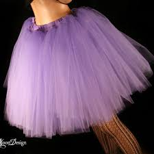 light purple tulle tutu skirt poofy knee length
