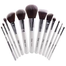 buy masterful collection pearlescent white make up brush set
