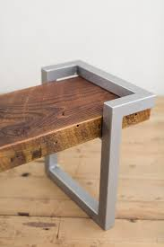steel and salvage wood bench factor fabrication