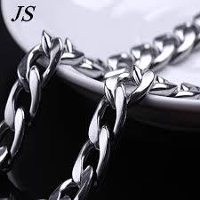 titanium chain link necklace images Js 11mm titanium chunky chain link necklace male vintage rock jpg