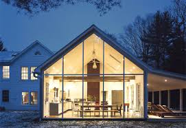 Curtain Wall House Plan Floating Farmhouse With Curtain Wall Glass Home Design And Interior