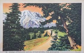 17 gorgeous vintage postcards from mount rainier national park
