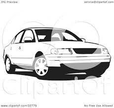 passat volkswagen white clipart illustration of a black and white volkswagen passat car by