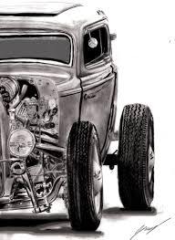 vintage cars drawings rod pin up girls drawings bing images custom cars u0026 bikes