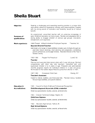 Sample Resume Cover Letter For Teacher How To Write A Cover Letter For Early Childhood Education Image