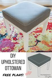 How To Reupholster A Leather Ottoman Diy Ottoman Makeover Woodworking Plans The Handyman S