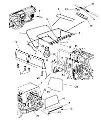 4 door jeep drawing soft top 2 door for 2008 jeep wrangler mopar parts giant