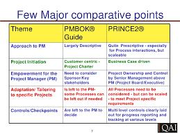 pmbok vs prince 2