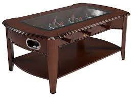 Air Hockey Coffee Table The Maxwell 2 In 1 Foosball Coffee Table In Mahogany By Berner