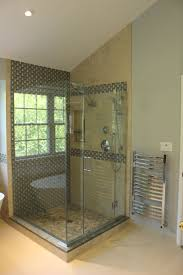 55 best pebble tile shower floor small bathroom images on