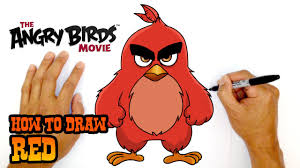 how to draw red the angry birds movie youtube