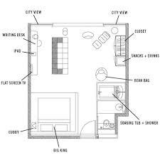 Studio Floor Plans Studio Suite 1 Hotel Americano Newyork Uptown Studio Floor Plan