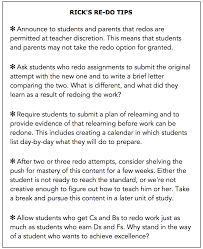 Reference Letter For A Student From A Teacher Rick Wormeli The Right Way To Do Redos