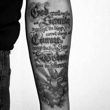 guys inner forearm serenity prayer design ideas tattoos