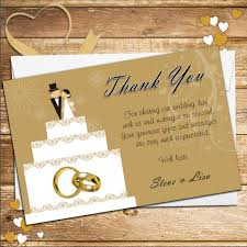 what to say in a wedding thank you card 10 personalised cake topper wedding thank you cards n178