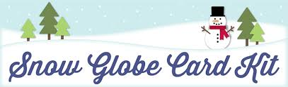 snow globe card kit