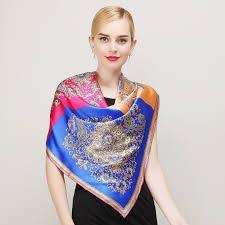 aliexpress com buy fashion royal style blue pink silk scarf new