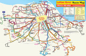Edinburgh Map Had Trouble Finding One Online So Here U0027s An Lrt Bus Map Edinburgh