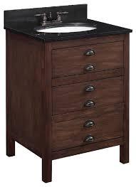 Granite Top Bathroom Vanity by 25 U0027 U0027 Wood Vanity With Black Granite Top And Oval Sink Antique
