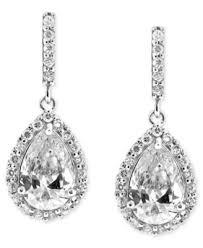 teardrop earrings giani bernini sterling silver earrings cubic zirconia pave