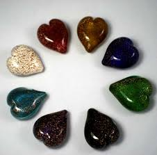 ashes into glass memorial handheld heart stardust scattering ashes