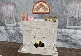 Shabby Chic Fireplaces by Second Life Marketplace Sweetstars Shabby Chic Fireplace Set