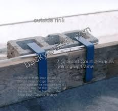 Backyard Rink Kit by Sport Court Ice Rink J Brace 4 Presto Install Backyard Rink