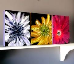 Wall Flower Decor by Flower Wall Decor Acrylic Painting Home Decor Wall Hanging