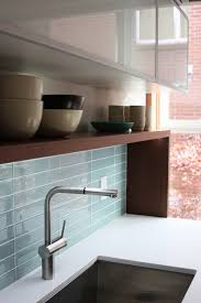 glass backsplashes for kitchens blue glass tile backsplash kitchen blue glass tile