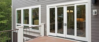 Vinyl Patio Doors With Blinds Between The Glass 400 Series Frenchwood Gliding Patio Door