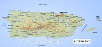 Caribbean Ocean Map puerto rico map geographical features of puerto rico of the