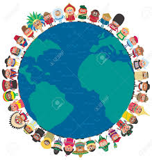 from around the world holding as a symbol of unity