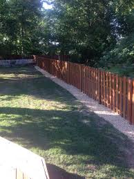 Fence Line Landscaping by The Gravel Along The Fence Line They Didn U0027t Put Any Barriers Down
