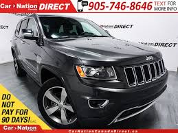 grey jeep grand cherokee 2016 used grey 2016 jeep grand cherokee for sale car nation canada direct