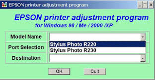 resetter epson r230 windows resetter epson stylus photo r230 r220 and r270 fix printer