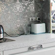 kitchen wall tile crystal glass mosaic tiles puzzle mirror surface
