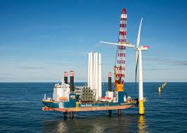 first wind turbine installed at gemini offshore wind park van