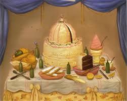 happy birthday fernando botero still life decor painting in oil