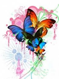 abstract butterfly wallpaper puzzle imgstocks com