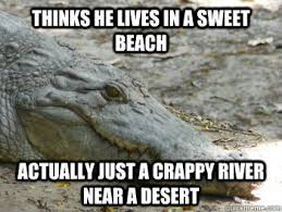 Crocodile Meme - in denial crocodile memes quickmeme